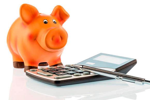 Свинья копилка с калькулятором
