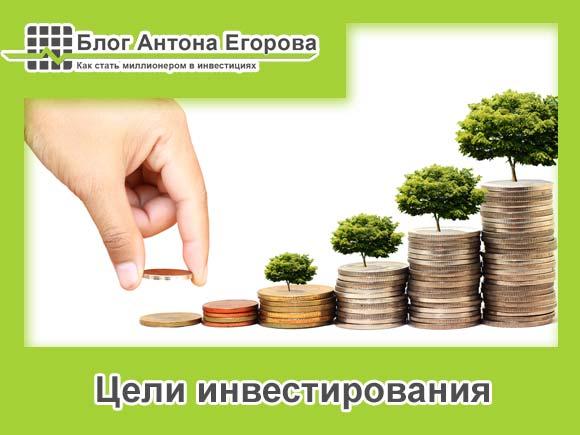 цели инвестирования