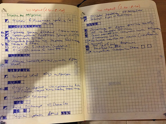 фото списка недели