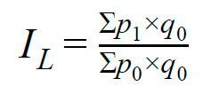 Формула расчёта инфляции Ласпейреса